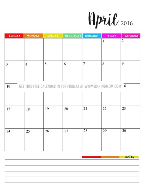 printable calendars with notes free printable 2016 calendar with notes calendar