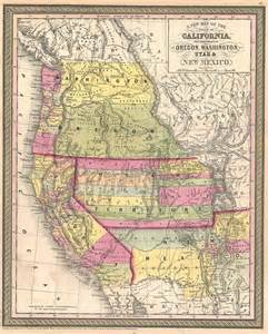 map of california oregon a new map of the state of california the territories of