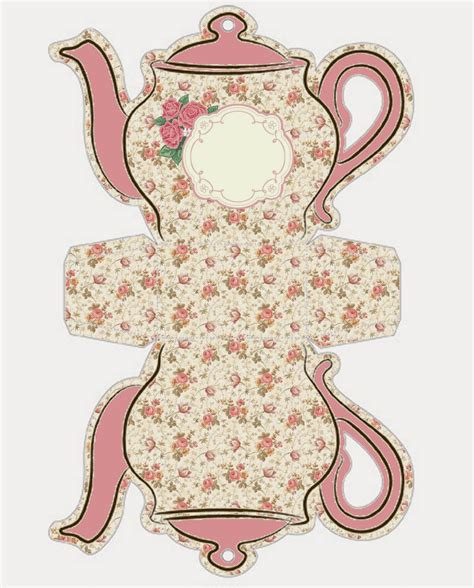 Shabby Chic Teapot Free Printable Boxes | shabby chic teapot free printable boxes oh my fiesta