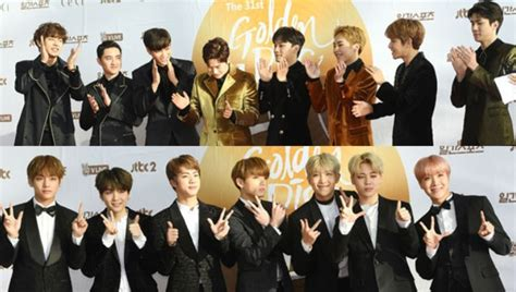 exo golden disk awards 2018 exo bts berjaya dalam golden disk awards 2017 harian