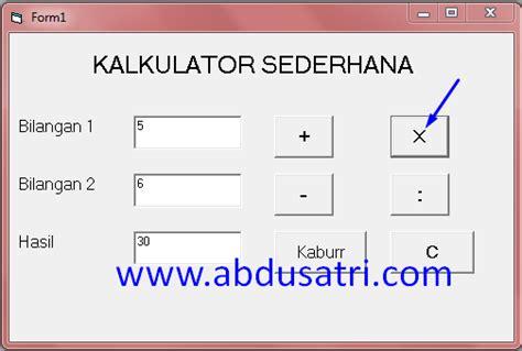 tutorial visual basic kalkulator cara membuat kalkulator sederhana dengan visual basic 6 0