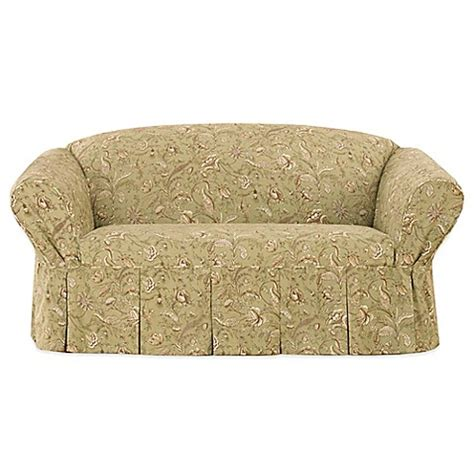 floral sofa slipcovers buy sure fit 174 fanciful floral by waverly sofa slipcover