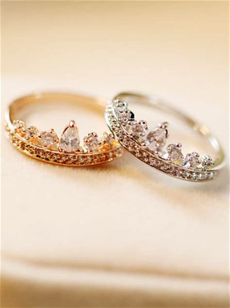 With These Rings We Do by Crown Ring Tiara Ring We Should Buy These For Each Other