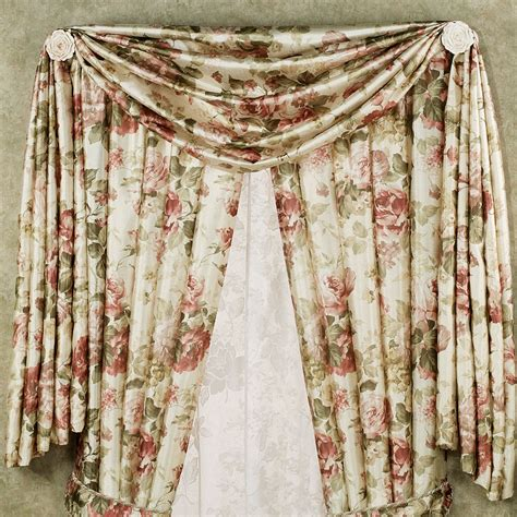scarf curtain springfield floral scarf valance and curtains