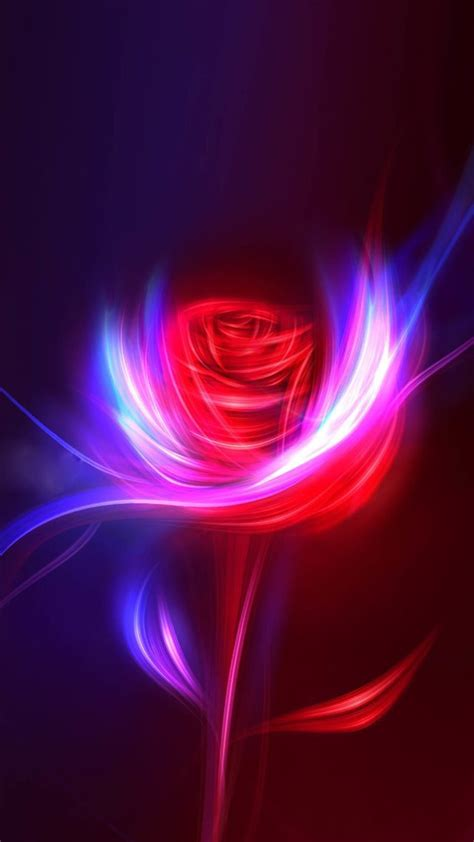 fantasy rose swirl light design art iphone  wallpapers
