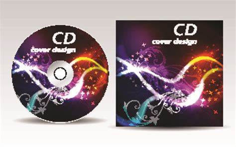 cd cover presentation vector template material 13 vector