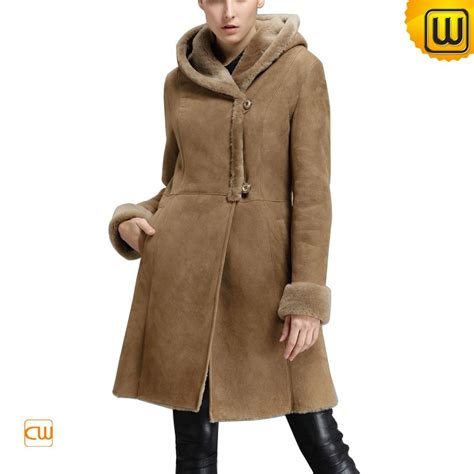 Hooded Coat shearling hooded coat cw640239