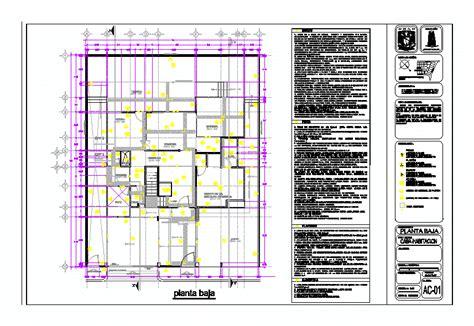 plano de habitacion plano de acabados casa habitacion en dibujo de autocad