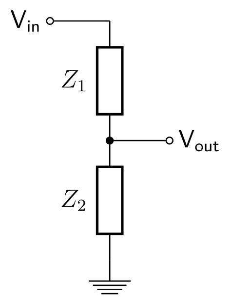 resistor divider impedance calculator voltage divider