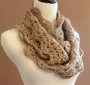 Crochet Chunky Infinity Scarf Chunky Crochet Infinity Scarf Lace Thick Cowl Neckwarmer