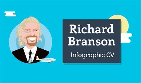 richard branson s resume infographic visualistan