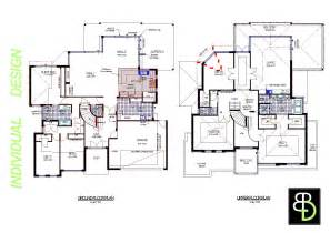 2 Story Modern House Plans Escortsea Two Storey House Plan With Dimensions