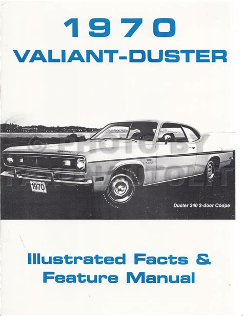 1970 plymouth duster valiant wiring diagram manual reprint