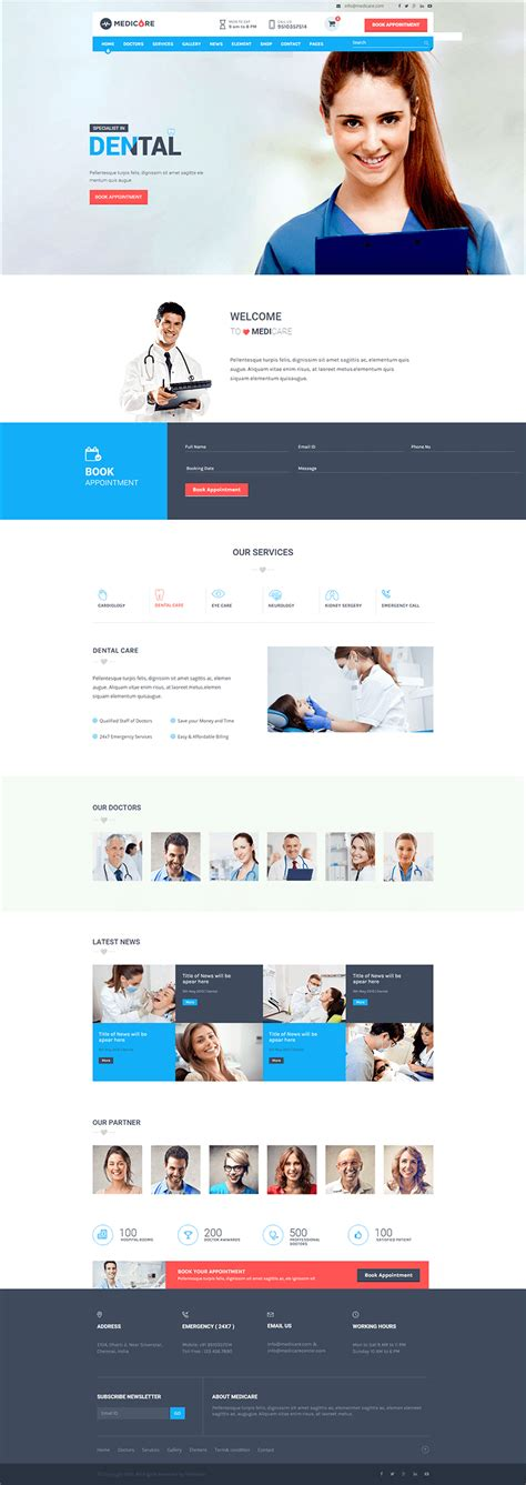 8 medical php themes templates free premium