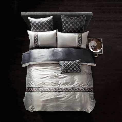 luxury tencel cotton embroidery bedding sets king queen