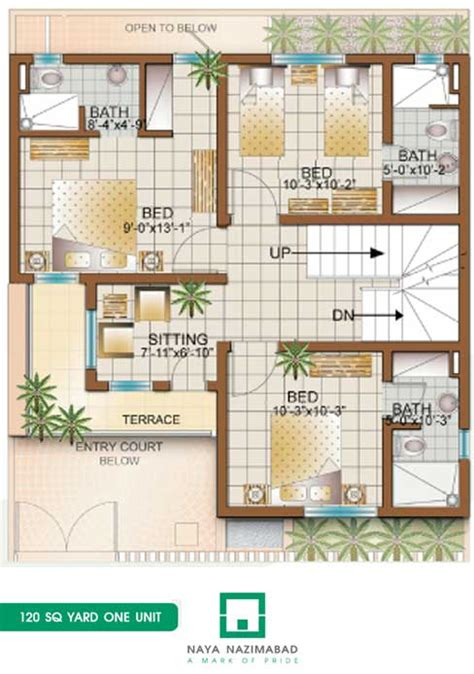 home maps design 400 square yard bungalow 120 sq yards one unit first floor real estate