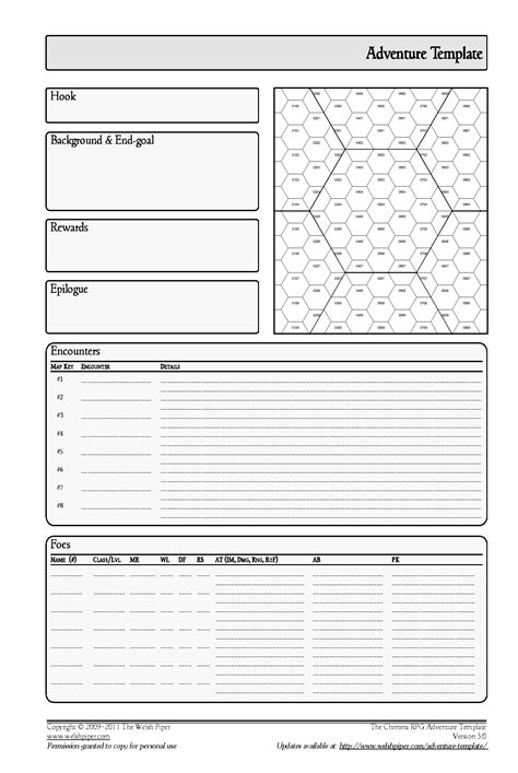 Dungeon Dragons Adventure System Large Villain Card Template modern dnd templates composition resume ideas namanasa