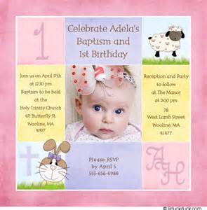sweet spring birthday baptism invitation bunny lamb photo