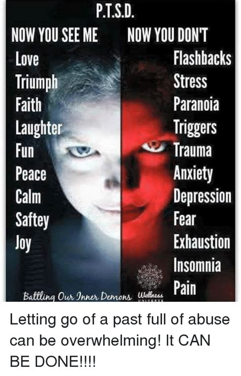 Ptsd Memes - ptsd now you see me now you don t flashbacks love stress triumph paranoia faith triggers