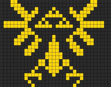 zelda bead pattern zelda tri force perler bead pattern bead sprites misc