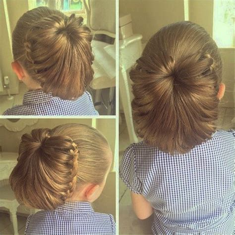 lace braided bun updo hairstyles 20 creative braided back to school haistyles