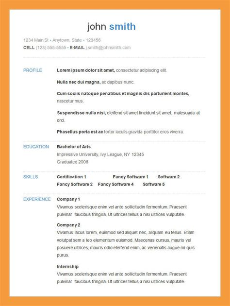 simple cover letter for resume pdf 6 simple resume exles resume pdf