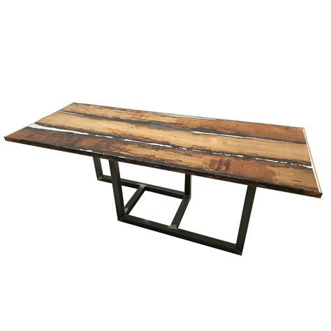 Handcrafted Table - handcrafted table briccola3 resin and briccola wood