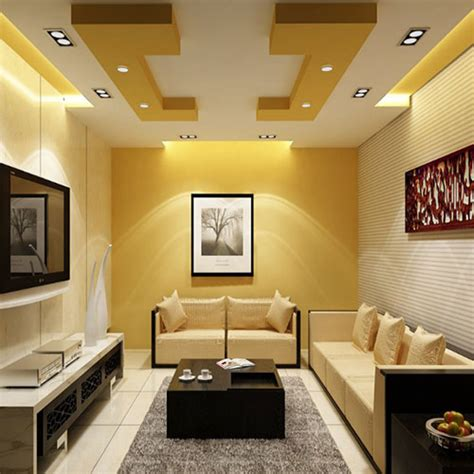 warna plafon gypsum  membuat ruangan terlihat luas