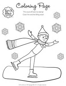 on the shelf printable coloring pages best photos of pole elves coloring pages