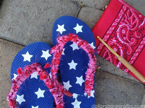 tutorial crocheted bandanna flip flops 187 dollar store crafts