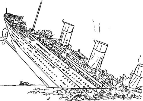 titanic coloring pages side coloring pages