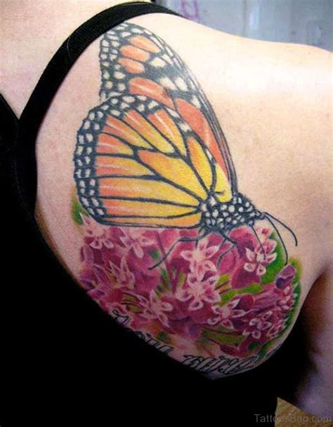 yellow butterfly tattoo 55 delightful butterfly tattoos on shoulder