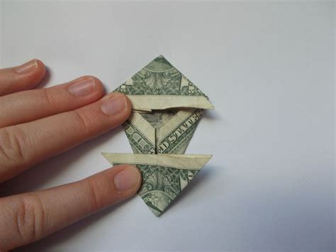 Dollar Bill Origami Tree - how to make an origami tree out of money