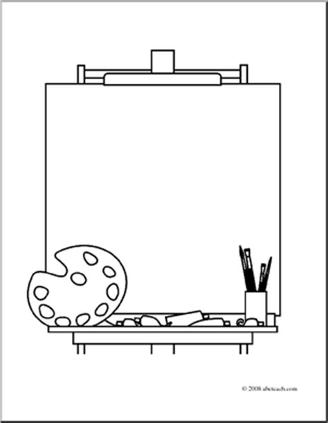 art easel coloring page art easel color clipart