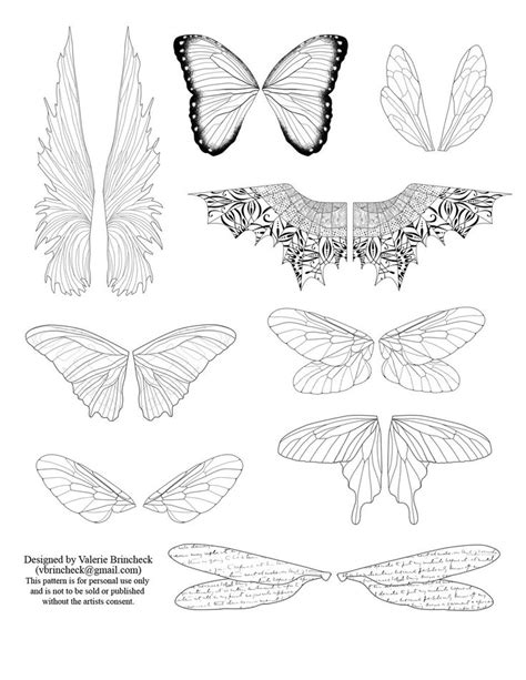butterfly key template free paper dolls printable to click on