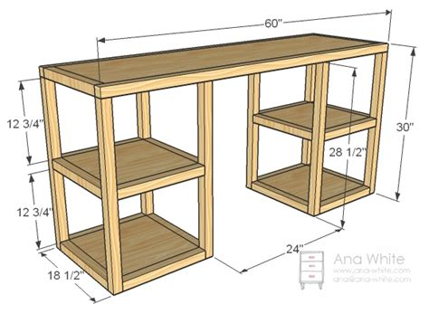 white build a parson tower desk free and easy diy