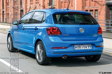volkswagen polo 2017 2017 vw polo rendered by autobild