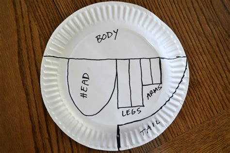 How To Make At Rex Out Of Paper - paper plate t rex i crafty things