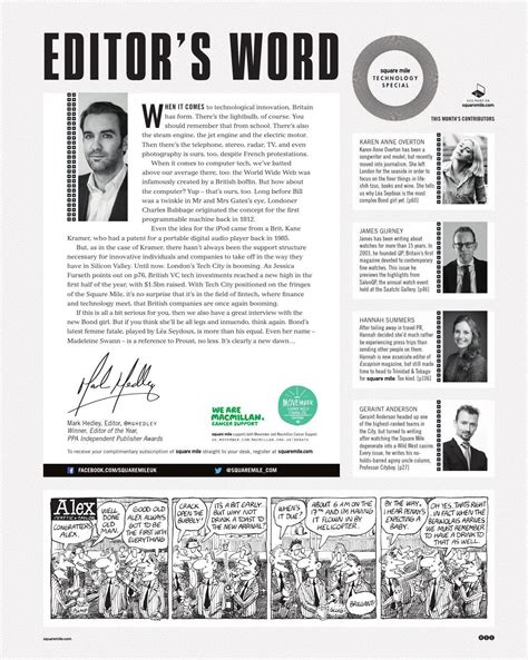 layout editor magazine square mile 106 the technology issue editor