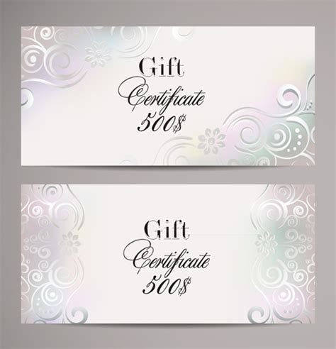 ornate certificate template vector free vector 4vector ornate gift certificates template vectors 01 vector card