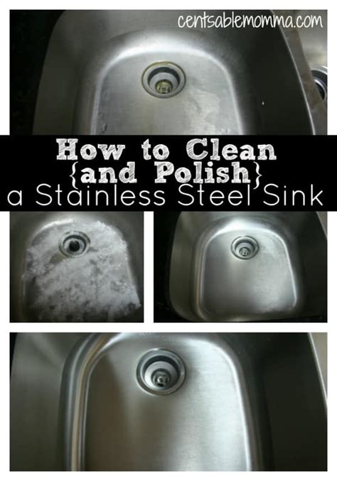 how to clean and a stainless steel sink