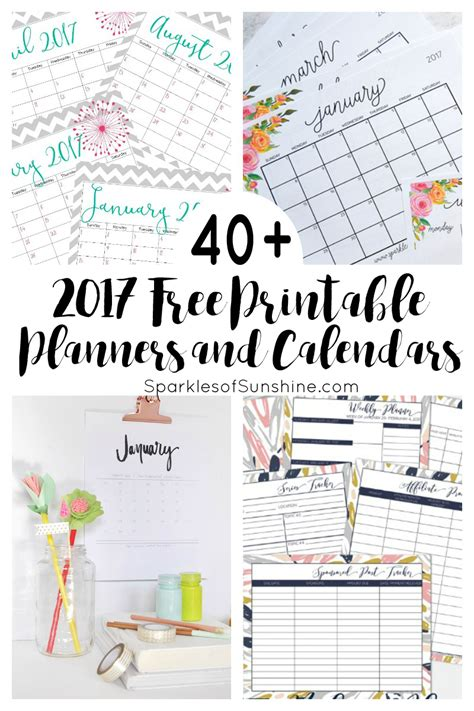 free printable online calendar planner 40 awesome free printable 2017 calendars and planners