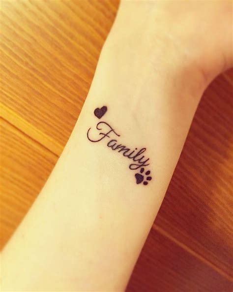 small paw tattoo tiny idea family small paw
