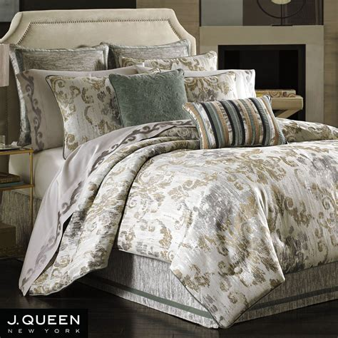 bedding queen seville damask scroll comforter bedding by j queen new york