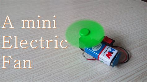 how to electric fan how to a mini electric fan easy way