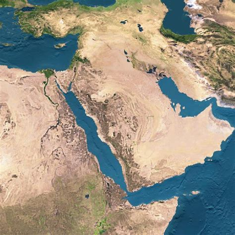 satellite map of middle east satellite photographs of israel and the middle east