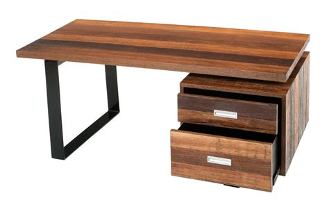 Soft Modern Desk Contemporary Rustic Desk Reclaimed Wood Wood Desk