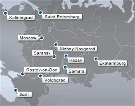 world cup 2018 host cities map when saturday comes russia 2018 let s pour tons and tons