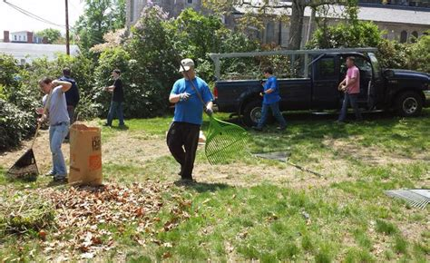 clean up backyard spring clean up of the varnum house museum grounds on sat