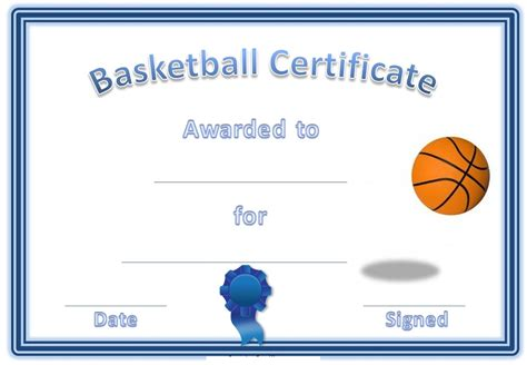 free basketball templates basketball certificate template basketball free border